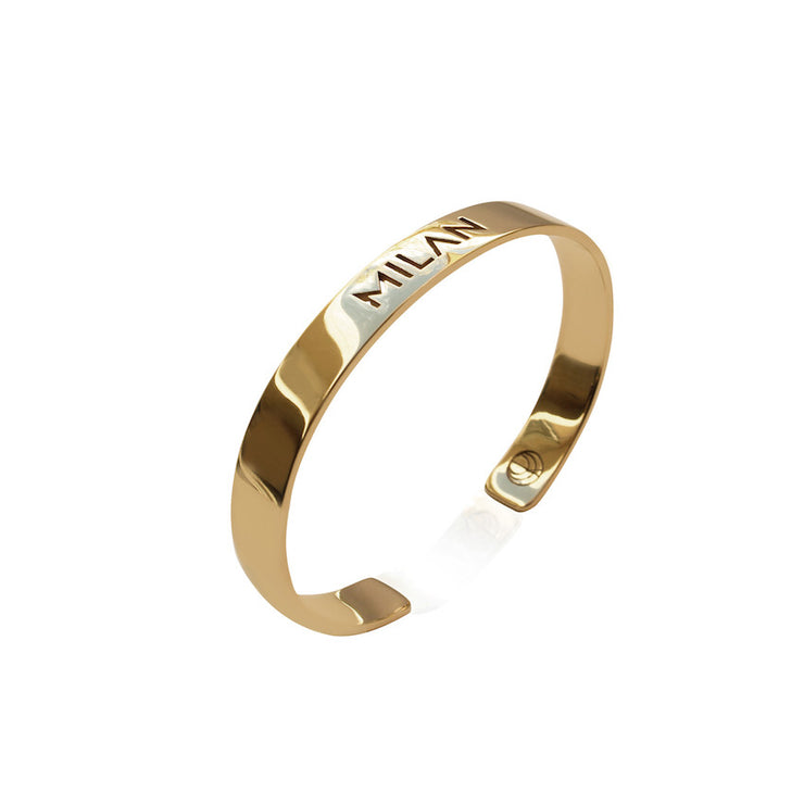 24K Gold Plated Milan Bangle by Cristina Ramella