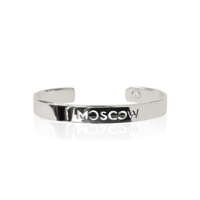 Rhodium Plated Moscow Bangle by Cristina Ramella