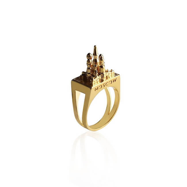 24K Gold Plated Moscow Ring by Cristina Ramella