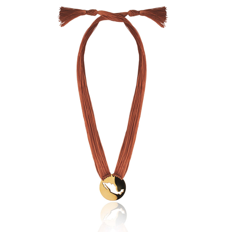 Brown Gracias Mexico Necklace by Cristina Ramella