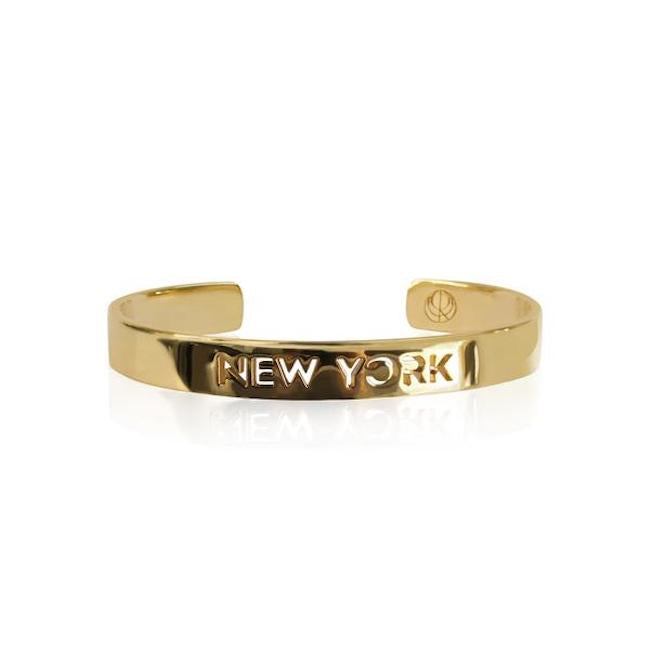 Sample 24K Gold Plated New York Bracelet by Cristina Ramella
