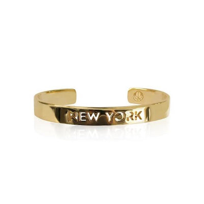 24K Gold Plated New York Bracelet Bangle by Cristina Ramella