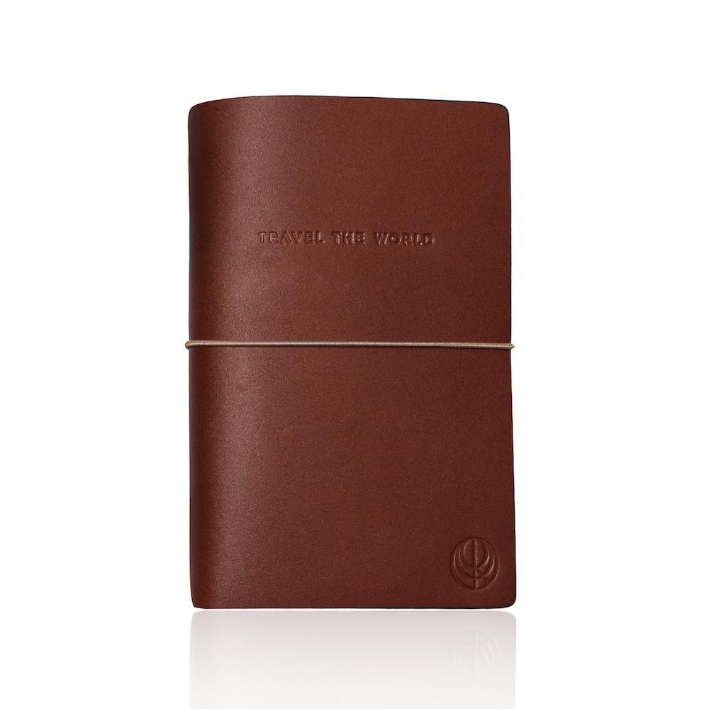 travel the world brown leather notebook cristina ramella travel the world fashion statement