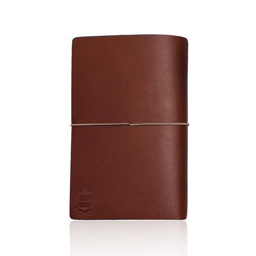 Brown Leather Travel the World Notebook by Cristina Ramella