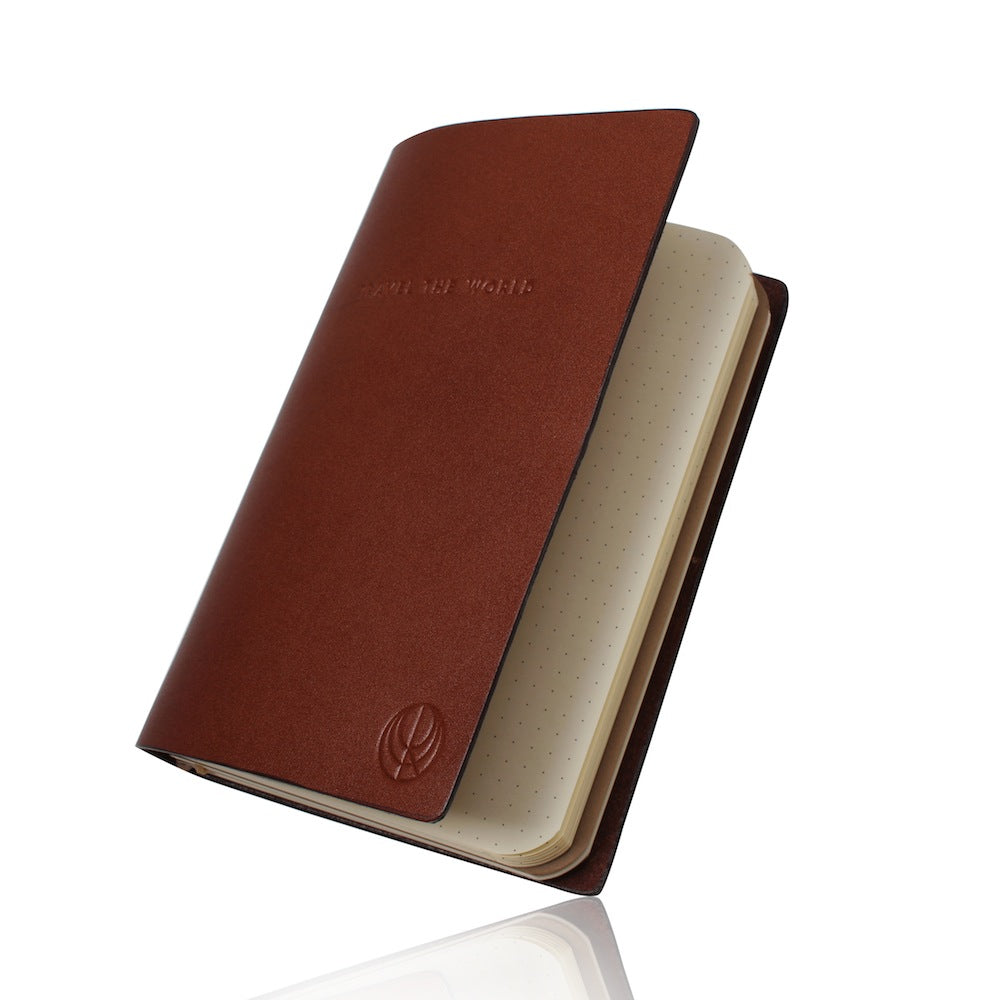 travel the world brown leather notebook cristina ramella travel the world wanderlust