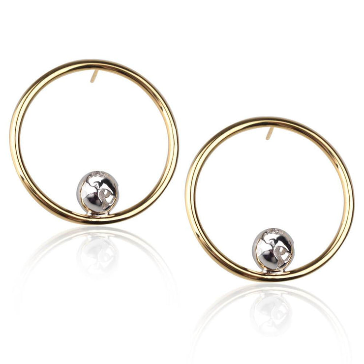 Orbit Hoops Earrings by Cristina Ramella