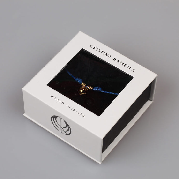 Packaging blue strap by Cristina Ramella
