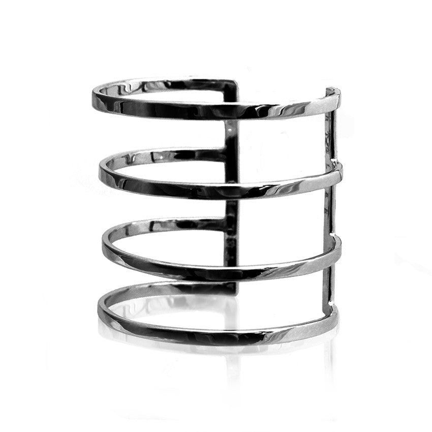 parallel lines cuff bracelet black cristina ramella jewelry travel the world modern