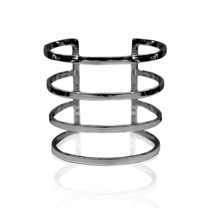 parallel lines cuff bracelet black cristina ramella jewelry travel the world luxury
