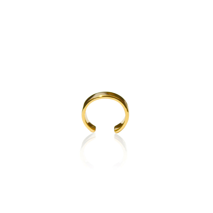 24K Gold Plated Parallel Earcuff by Cristina Ramella
