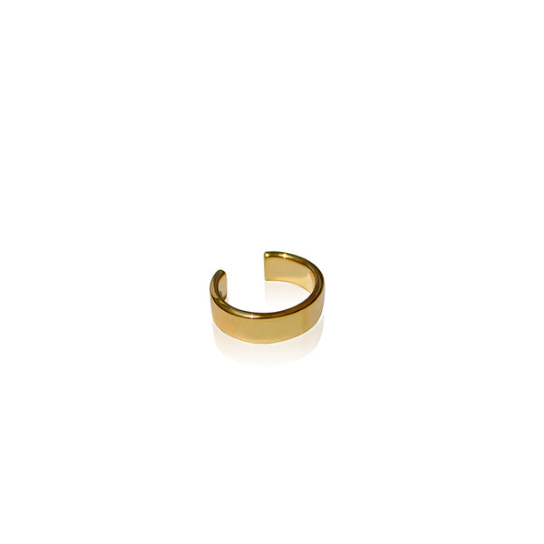 Simple minimalistic 24K Gold Plated earcuff by Artelier side view