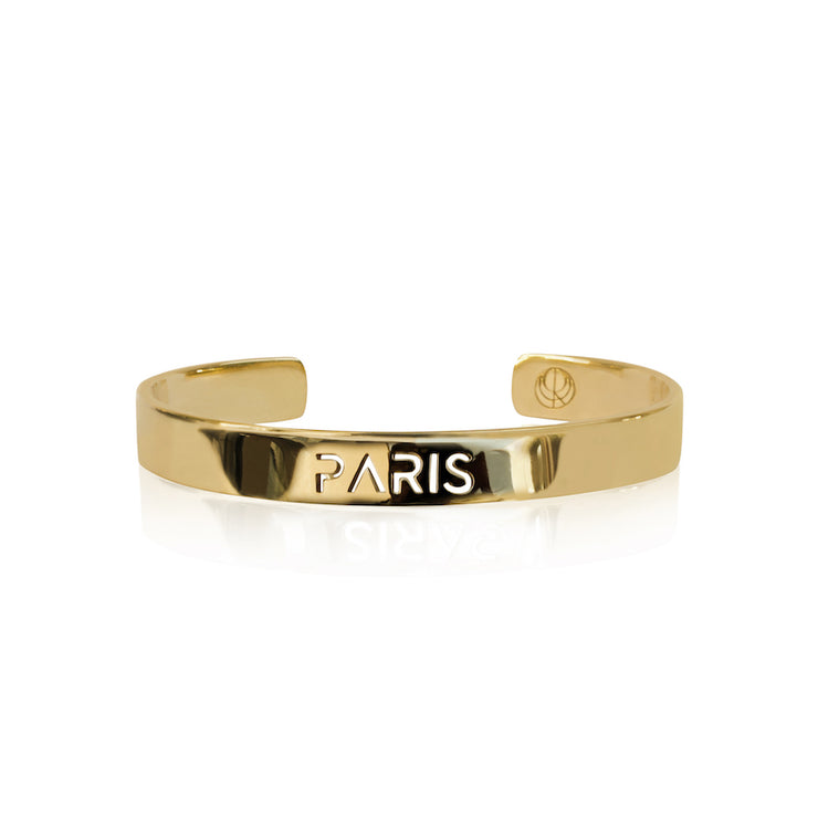24K Gold Plated Paris Bracelet Bangle by Cristina Ramella