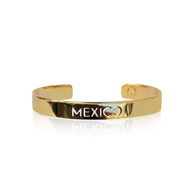 24K Gold Plated Mexico Bangle by Cristina Ramella
