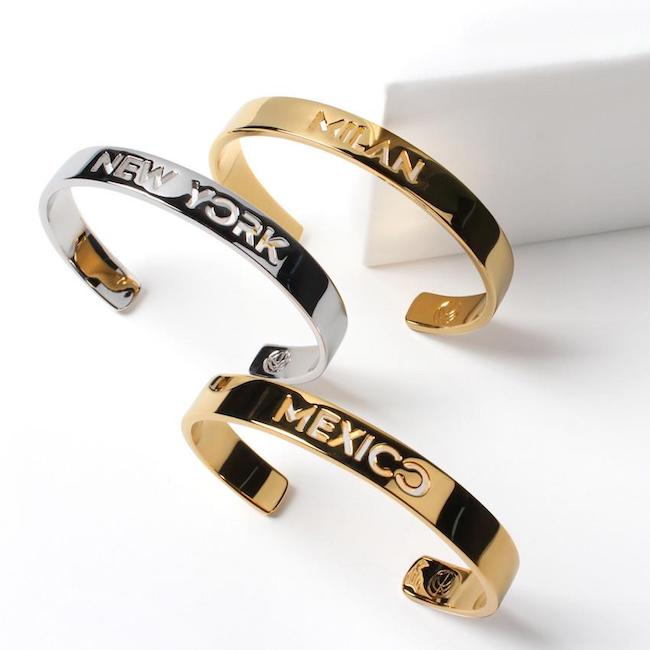 Rodium plated and 24K Gold Plated Pick Your Memories Stack by Cristina Ramella