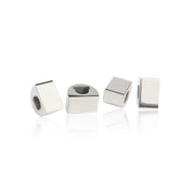 Rhodium Plated Simple Bricks by Cristina Ramella