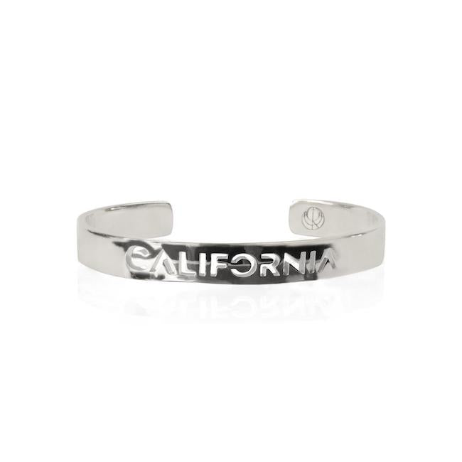 Rhodium Plated California Bangle by Cristina Ramella