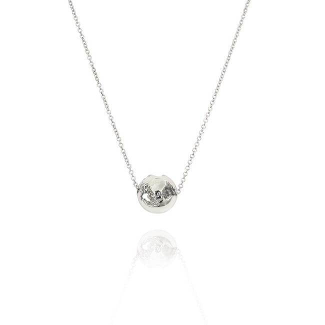 Rhodium World Charm by Cristina Ramella