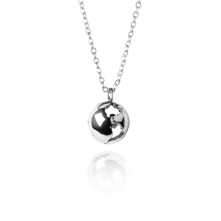 Rhodium Earth Necklace by Cristina Ramella