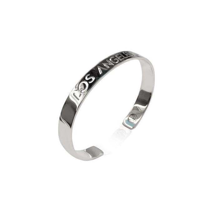 Rhodium Plated Los Angeles Bracelet Bangle by Cristina Ramella