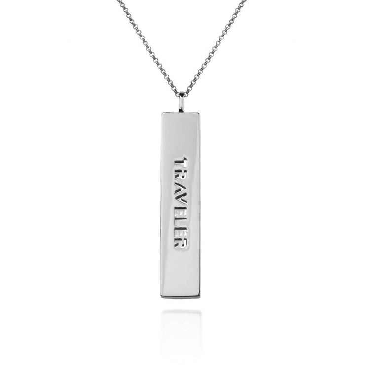 Rhodium Traveler Necklace by Cristina Ramella