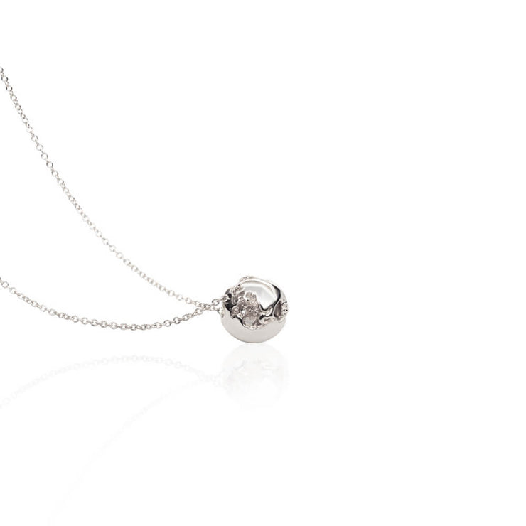 SAMPLE Rhodium Charm Necklace