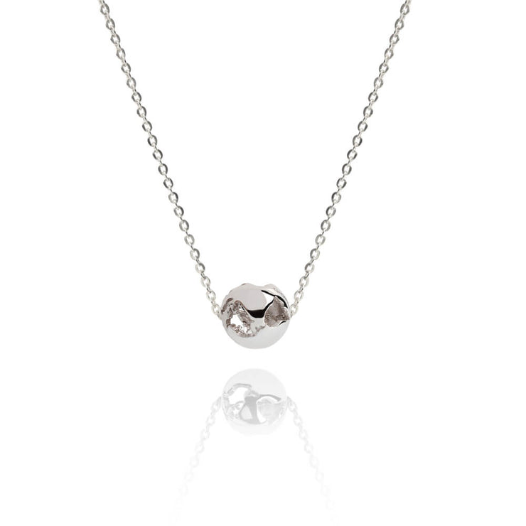 Rhodium Charm Necklace by Cristina Ramella