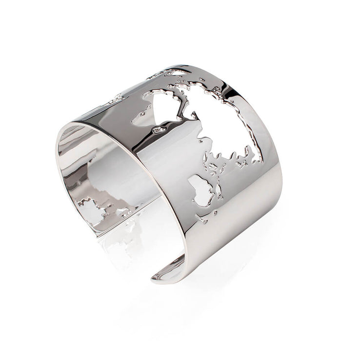Rhodium World Cuff by Cristina Ramella