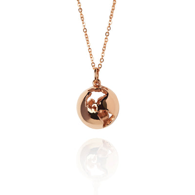 Rose Gold Globe Necklace by Cristina Ramella
