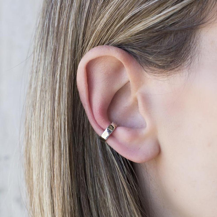 Rhodium Plated Parallel Earcuff by Cristina Ramella
