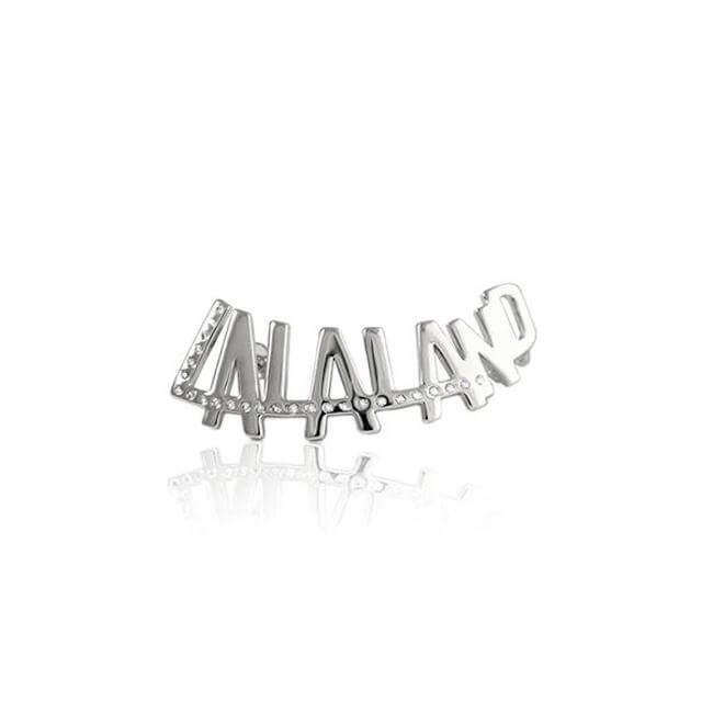 Sample Rhodium Plated with crystals LALALAND earcuff by Cristina Ramella