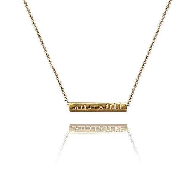 Sample 24K Gold Plated Milano Necklace by Cristina Ramella