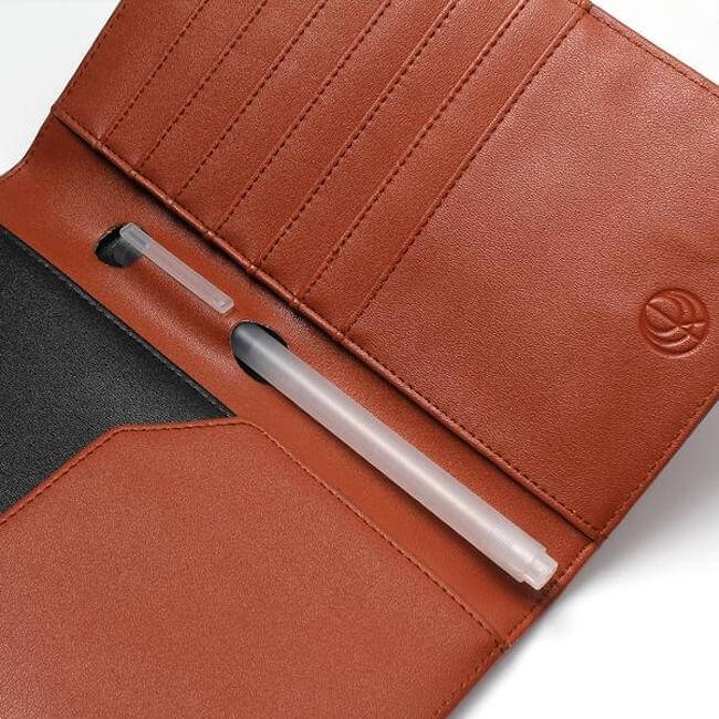Sample Brown Synthetic Leather Passport Holder by Cristina Ramella