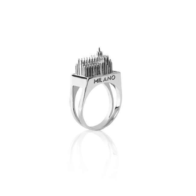 Rhodium Milan Ring by Cristina Ramella