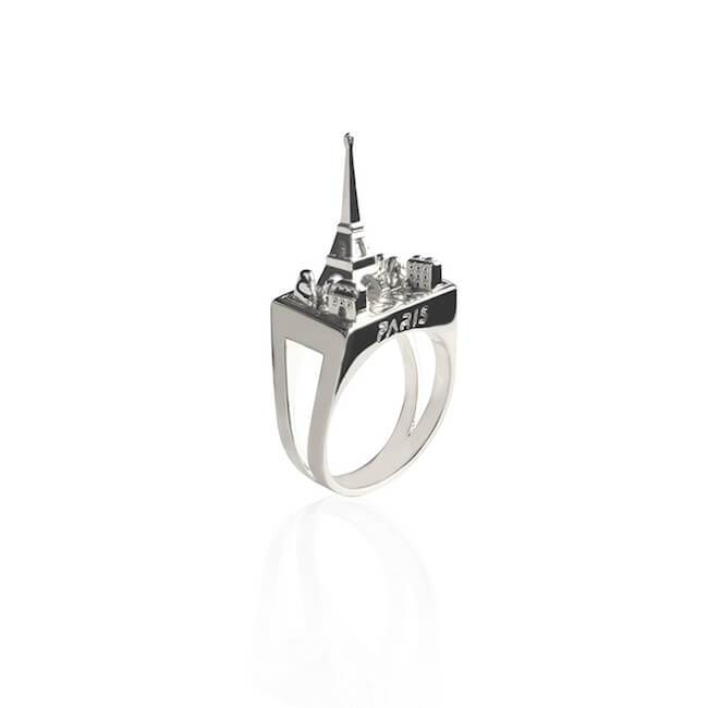 Rhodium Paris Ring by Cristina Ramella