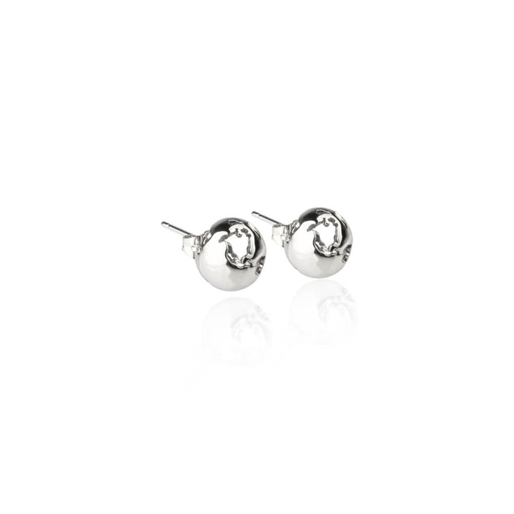 Rhodium Small Earrings by Cristina Ramella