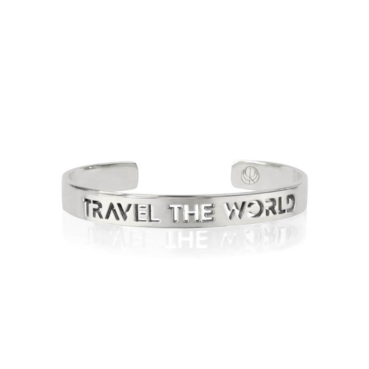 Travel the World Bracelet Rhodium Plated by Cristina Ramella