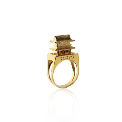 24K Gold Plated Tokyo Ring by Cristina Ramella