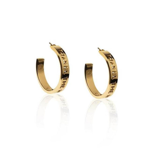 24K Gold Plated Medium Travel The World Hoops by Cristina Ramella