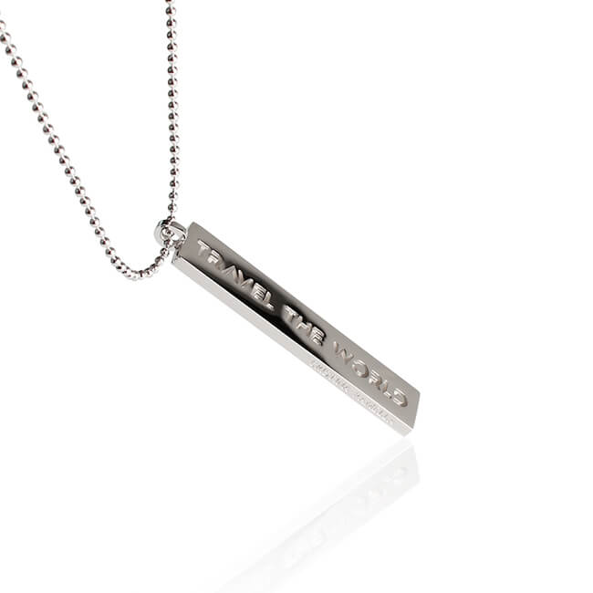 Rhodium Travel the World Necklace by Cristina Ramella