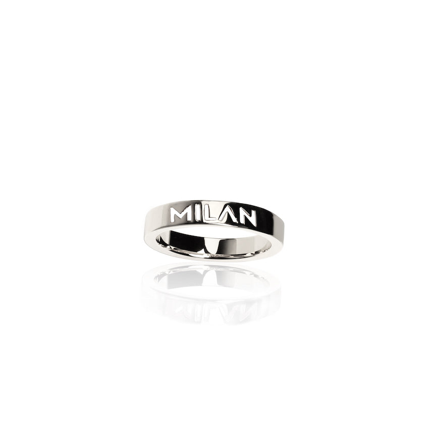 Rhodium Plated City Rings