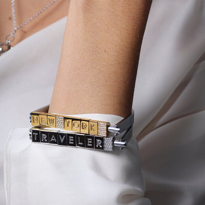 Traveler Bricks Bracelet by Cristina Ramella