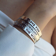 Travel the World Bangle by Cristina Ramella