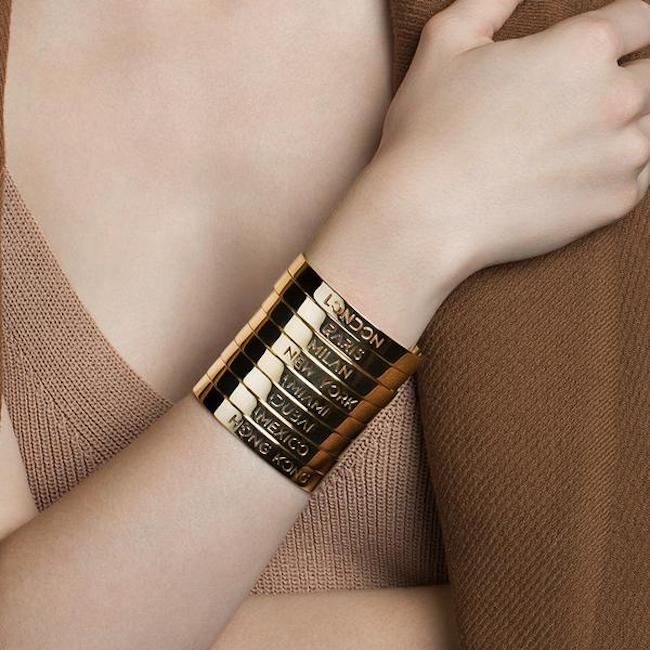 24K Gold Plated Miami Bracelet Bangle by Cristina Ramella