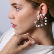 Wearing Halo Earring by Cristina Ramella
