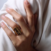Wearing World Long Ring by Cristina Ramella