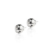 Rhodium Earth Earrings by Cristina Ramella