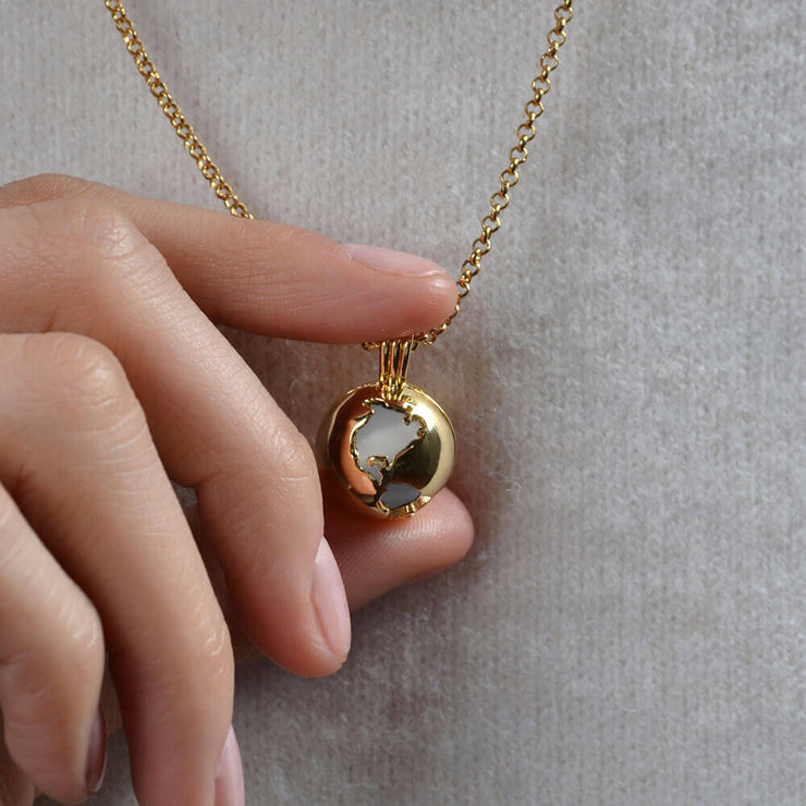 Wearing Moonstone Locket by Cristina Ramella