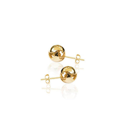 24K World Small Earrings by Cristina Ramella