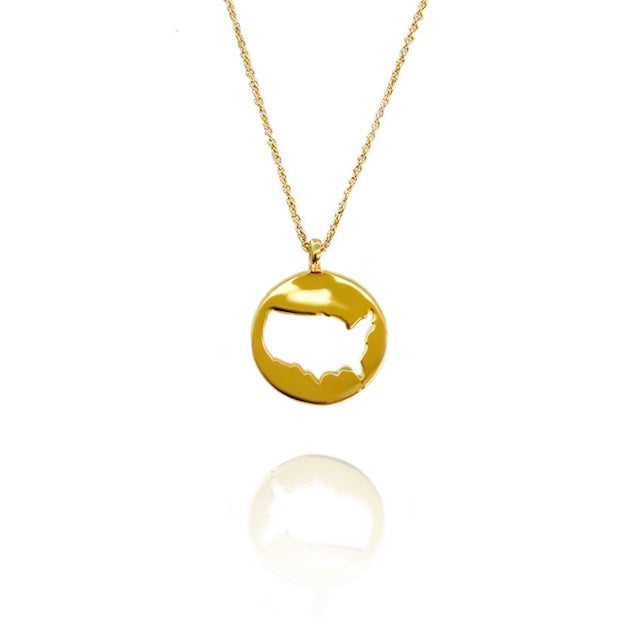 USA Gold Pendant by Cristina Ramella