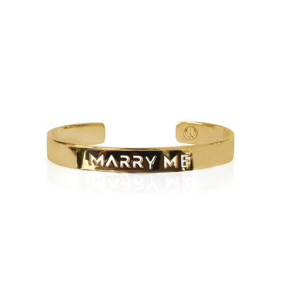 24K Gold Plated Marry Me Bangle Bracelet by Cristina Ramella